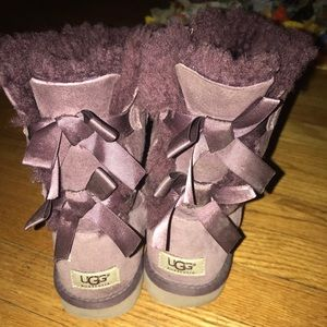 Purple Bailey bow uggs